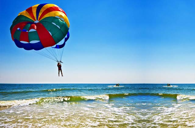 Enjoy Parasailing at beach